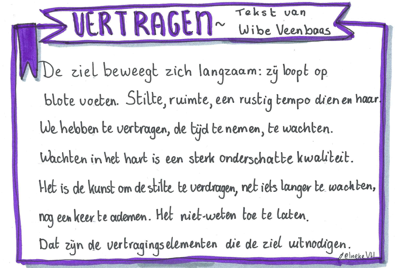 Vertragen tekst Wibe Veenbaas